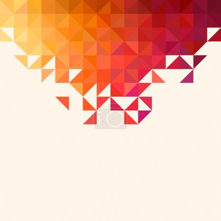 Illustration for Background of geometric shapes. Colorful mosaic pattern. Retro triangle background - Royalty Free Image