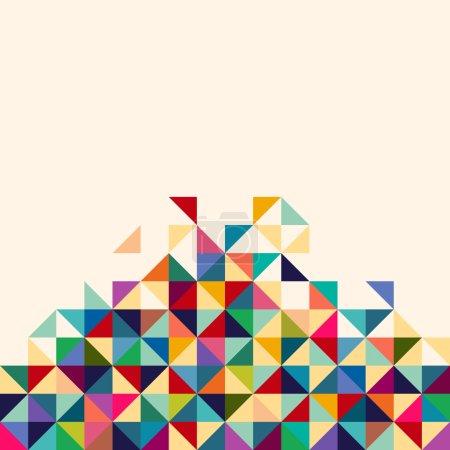 Illustration pour Fond abstrait, géométrique . - image libre de droit