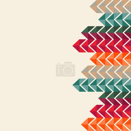 Illustration for Abstract, geometric background, colorful, spectrum - Royalty Free Image