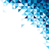 Abstract geometric background triangle and square blue