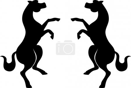 Two horses silhouettes.