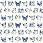 Dogs seamless pattern...