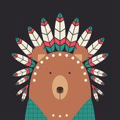 Indická medvěd s peřím