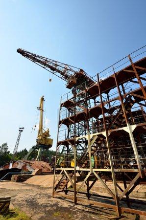 Cargo crane at Riga shipyard