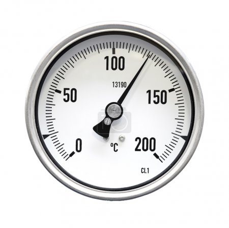 Industrial thermometer isolated