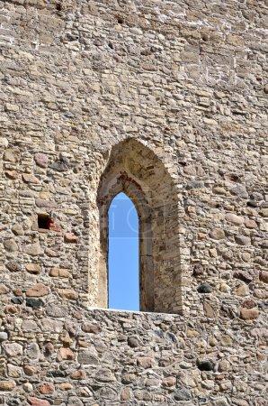Window in an old castle wall