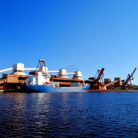 the cargo port. Terminal of Ventspils