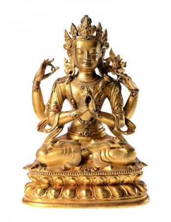 Golden budda statue close-up