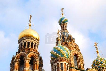 top of ortodox Church of the Savior on Blood in Sait Petersburg