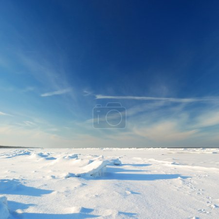 Ice desert winter landscape