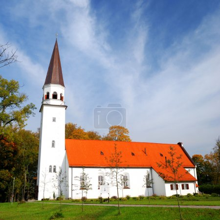 old luthetan church in Sigulda, Latvia
