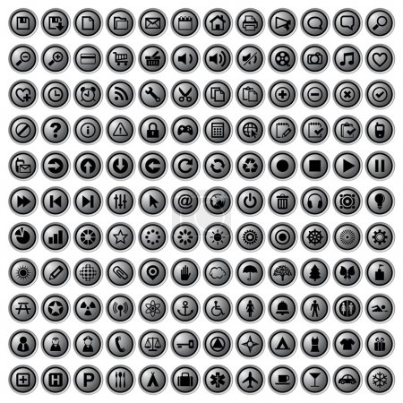 Set of 132 buttons and universal icon....