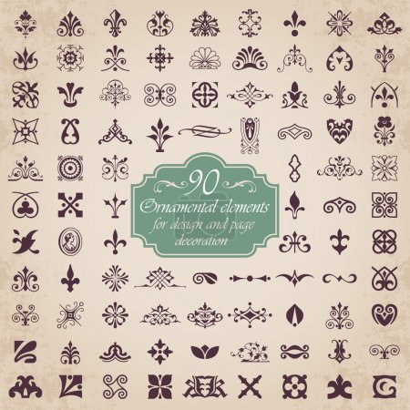 Photo for Vector set of 90 graphic elements for design - Royalty Free Image