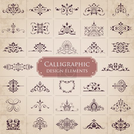 Illustration for Vector calligraphic set - Royalty Free Image