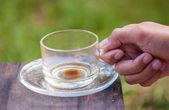Emtry šálek kávy