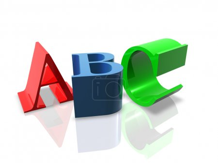 Photo for 3D Render of ABC letters. Concept: Education. - Royalty Free Image