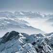 Snowy mountains in the Swiss Alps. View from Mount...