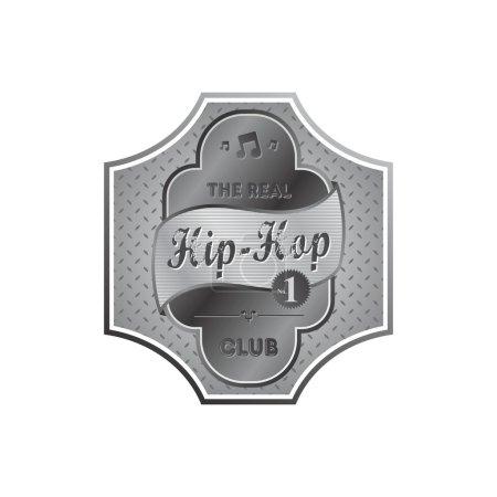 Music genre theme label
