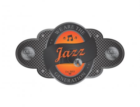 Music genre theme emblem label