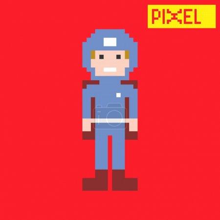 Pixel cartoon art character