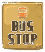 Bus stop sign on grunge pattern