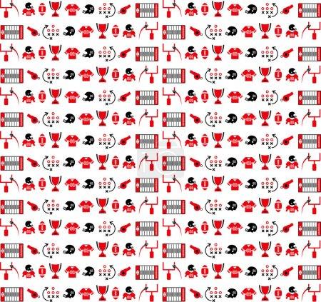 American football pattern icon
