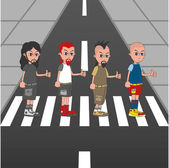 Abbey road musician colorful