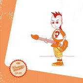 Cartoon bassist