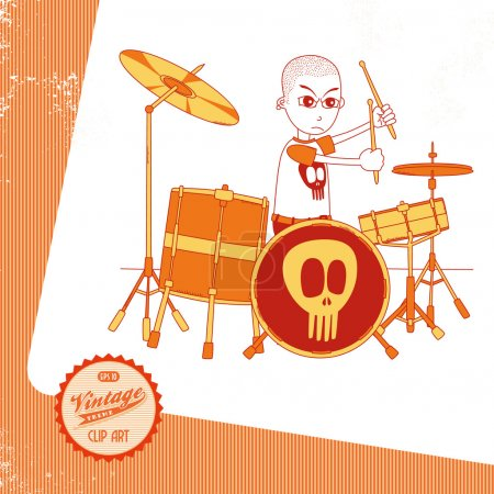 Drummer cartoon