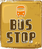 Bus stop sign Vector illustration