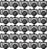 Pixel art camera pattern