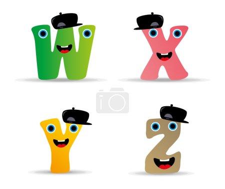 Alphabet monster set