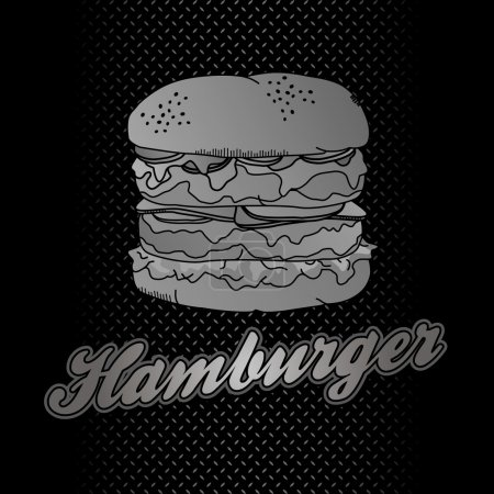 Illustration for Burger metal theme - Royalty Free Image