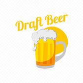 Retro Look Draft Beer sign