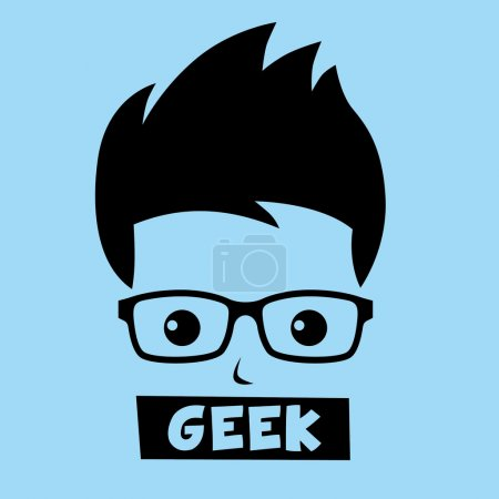 Geek nerd boy