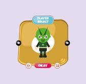 Hero player select menu