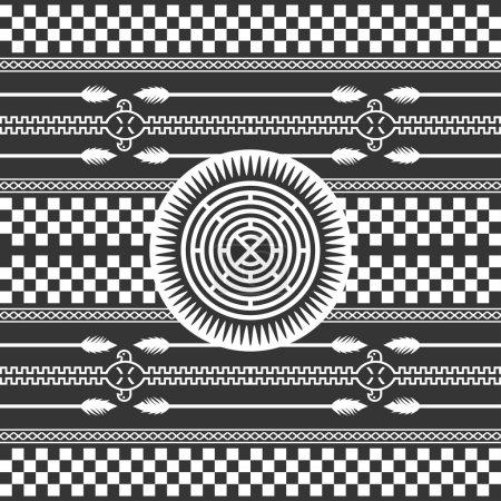Modèle d'art amérindien