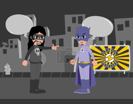 Good superhero versus villain