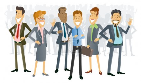 Illustration for Business People Cartoons - Royalty Free Image