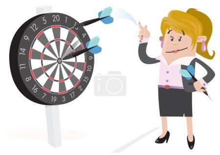 Businesswoman Buddy Hits a Bullseye.