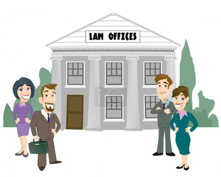 Illustration for Law Firm - Royalty Free Image