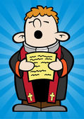 This little priest his happily singing one of his favorite hymns now please be seated everyone layered separately from the background for easy editing and manipulation amen