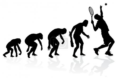 Evolution of a Tennis Player