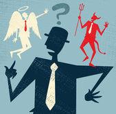 Abstract Businessman has a Moral Dilemma