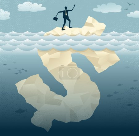 Abstract Businessmen find the Tip of the Dollar Iceberg.