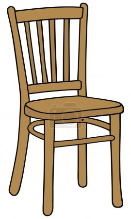 Illustration for Hand drawing of a classic wooden chair - Royalty Free Image