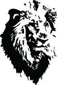Black-and-white image of the head of a lion Open with AI8 or above corelDraw