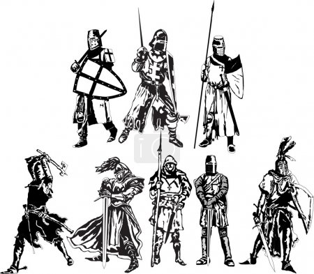 Set the knights of different epochs