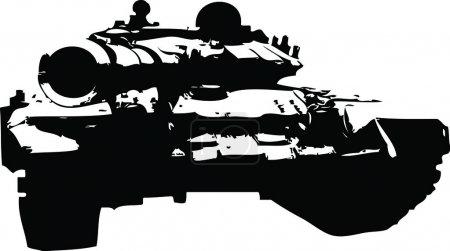 Russian Tank Silhouette