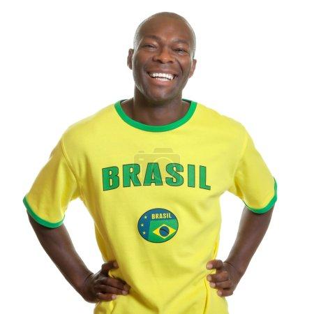 Brazilian soccer fan is ready for kick off